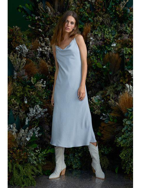 Vestido Samira - Cinza Mescla
