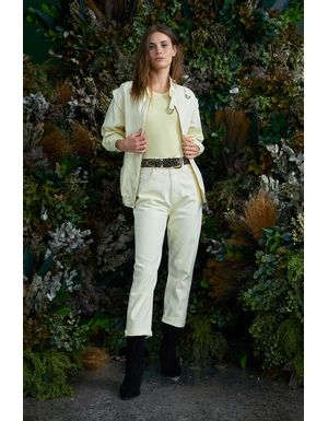 Calça Jeans Selma - Amarelo Manteiga