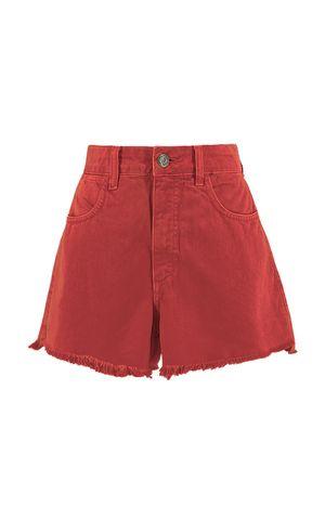 Shorts Jeans Grazi - Marrom Chilli