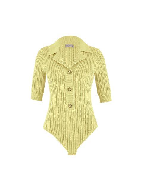 Body Tricot Stephanie - Amarelo Manteiga