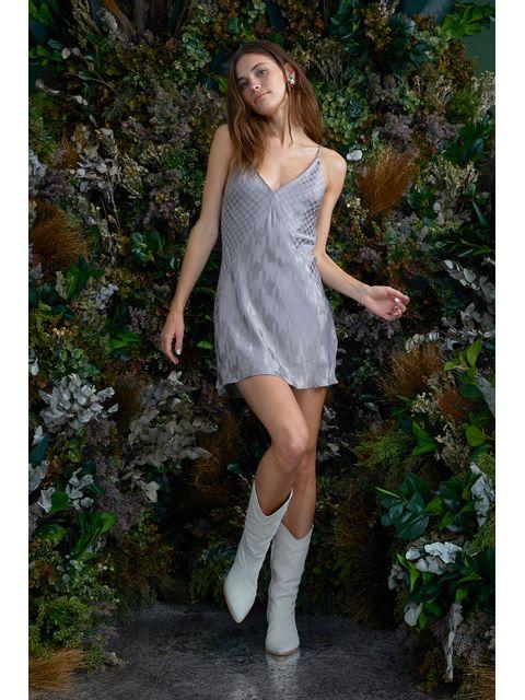 Vestido Malu - Cinza Niquel