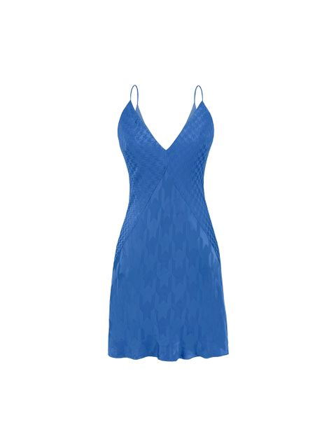 Vestido Malu - Azul Mediterraneo