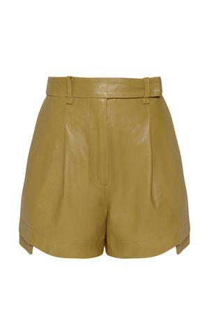 Shorts Couro Joana - Verde Army