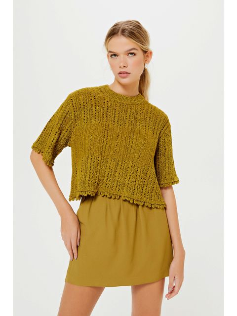 Cropped Tricot Raiala - Verde Army