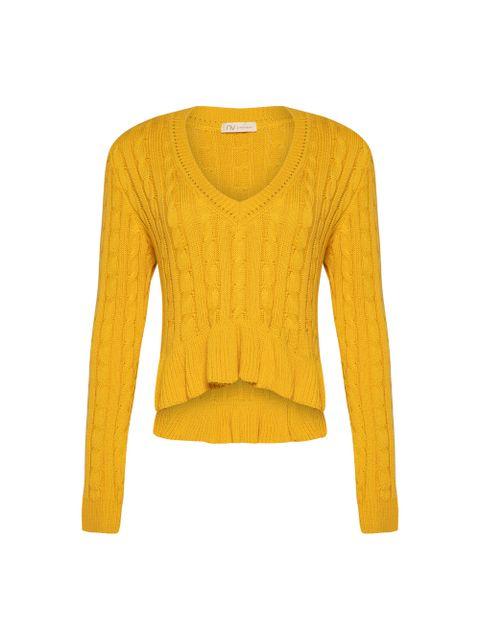 Blusa Tricot Lana - Amarelo Dijon