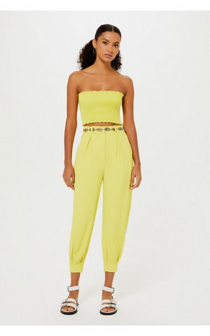 Calça Helena - Amarelo Pina