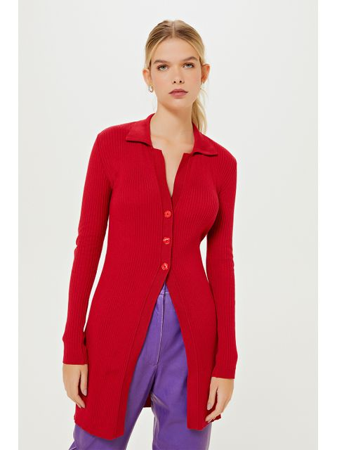 Cardigan Tricot Serafina - Vermelho Berry