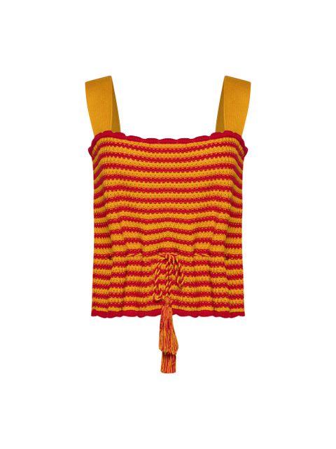 Cropped Tricot Milena - Amarelo Dijon