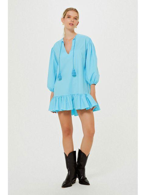 Vestido Duda - Azul Curaçau