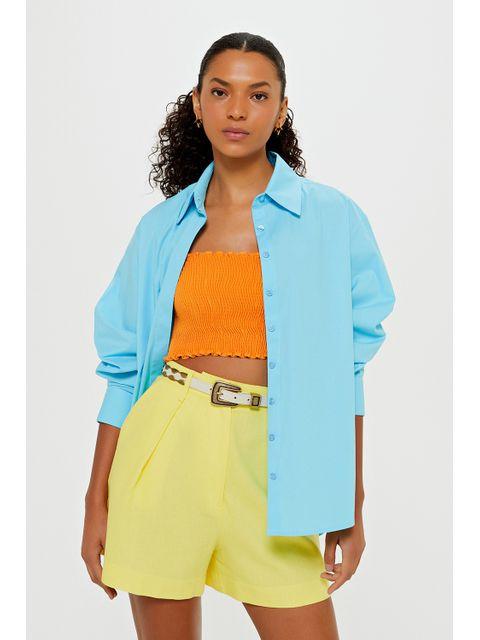 Camisa Ligia - Azul Curaçau