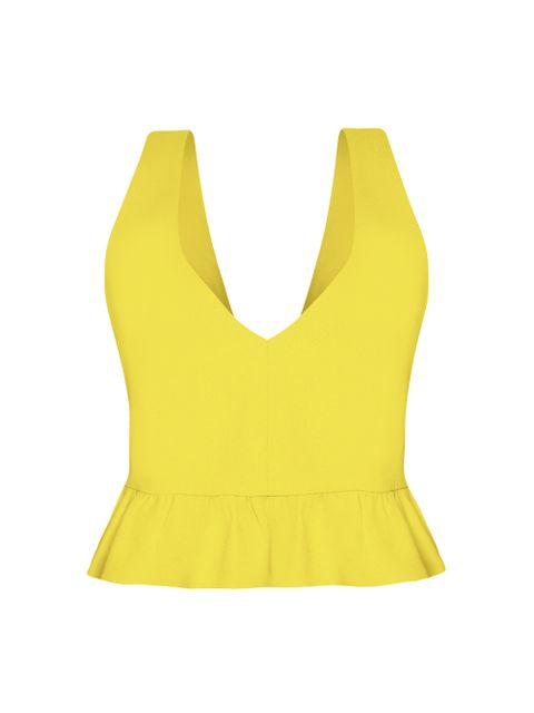 Cropped Mare - Amarelo Pina