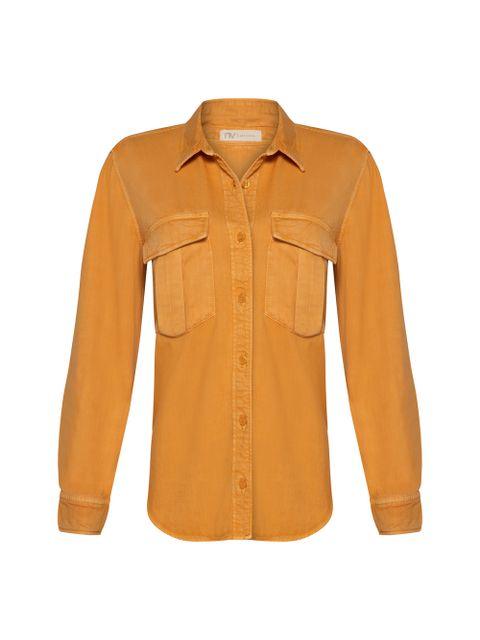 Camisa Jeans Marieta - Amarelo Dijon