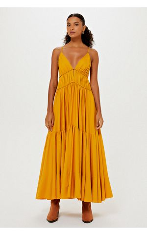 Vestido Abi - Amarelo Dijon