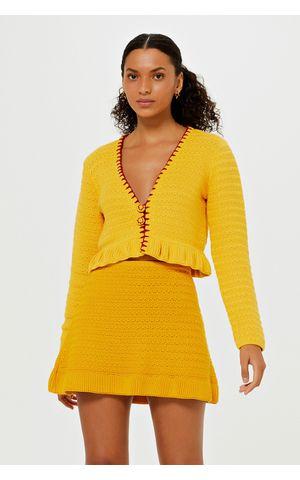 Casaqueto Tricot Leandra - Amarelo Dijon