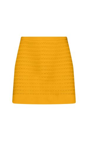 Saia Tricot Sandra - Amarelo Dijon