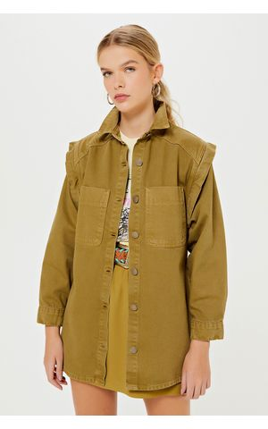Camisa Jeans Pippa - Verde Army