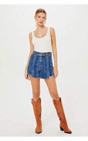 Shorts Jeans Esmeralda - Jeans Escuro