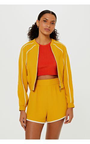 Casaco Rebeca - Amarelo Dijon
