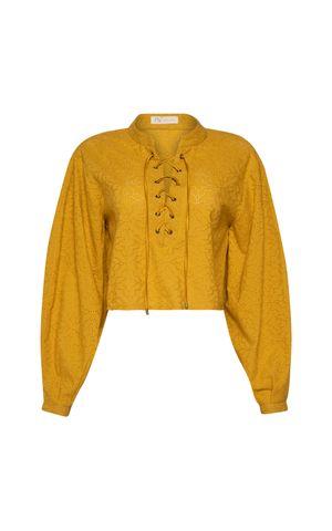 Blusa Candida - Amarelo Dijon