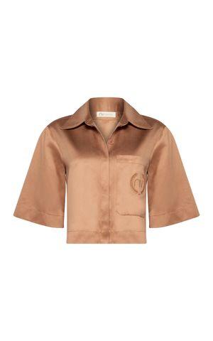 Camisa Georgia - Marrom Conhaque