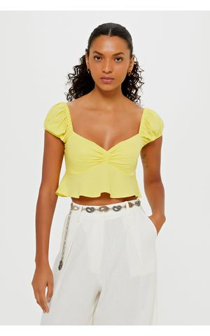Blusa Lauren - Amarelo Pina