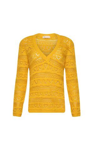 Blusa Tricot Ariel - Amarelo Dijon