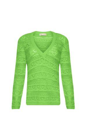 Blusa Tricot Ariel - Verde Paradise