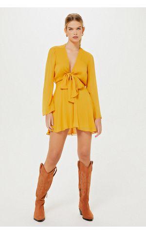 Vestido Celine - Amarelo Dijon