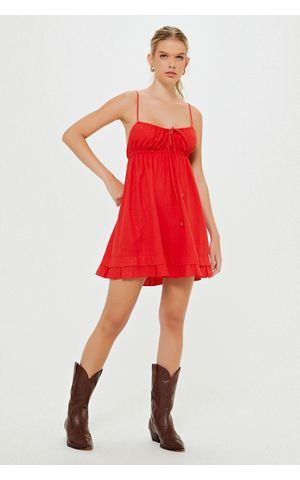 Vestido Leka - Vermelho Berry